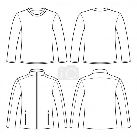 Jacket and Long-sleeved T-shirt