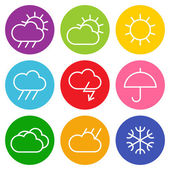 Colorful weather sign isolated on white backgound