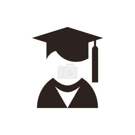 Illustration for University avatar. Education icon isolated on white background - Royalty Free Image