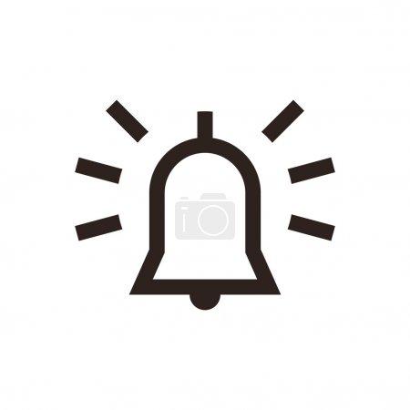Illustration pour Icône d'alarme isolée sur fond blanc - image libre de droit