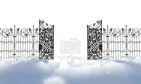 Photo for Heaven gate isolated on white background - Royalty Free Image