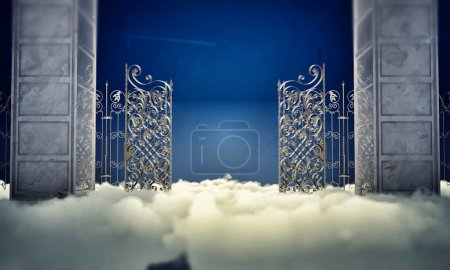 Foto de Puerta del cielo en el cielo - Imagen libre de derechos