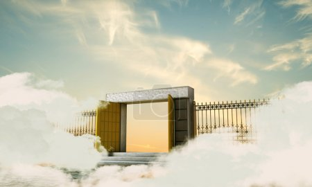 Photo for Illustration of the heaven gate - Royalty Free Image