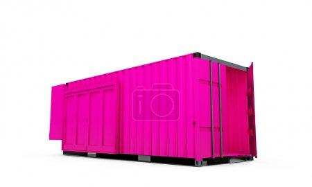 Photo for Cargo container isolated on white background - Royalty Free Image
