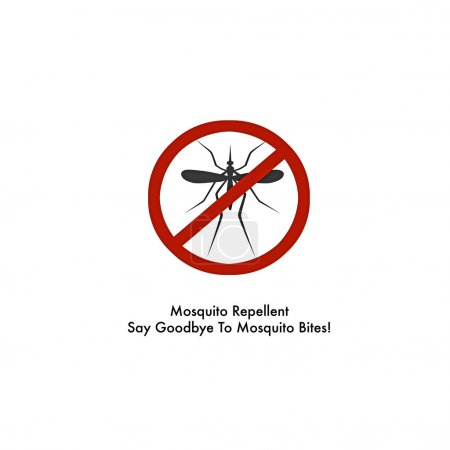 Mosquito repellent spray label isolated on white b...