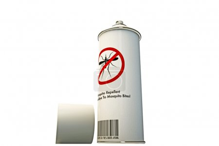 Mosquito repellent spray cans isolated on white ba...