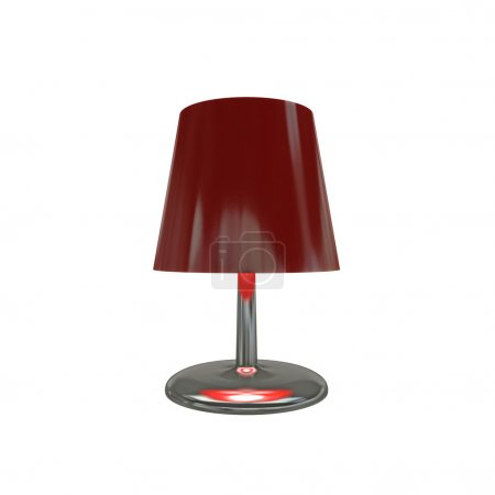 Photo for Red lamp isolated on white background - Royalty Free Image