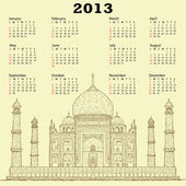 Taj mahal vintage 2013 naptár
