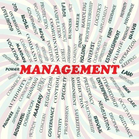 Illustration pour Illustration du concept de gestion. - image libre de droit