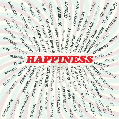 Illustration for Illustration of happiness concept. - Royalty Free Image