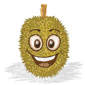 Happy durian fruit