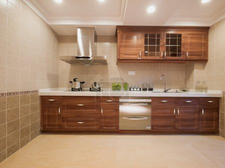 Photo for The kitchen with classic cabinet - Royalty Free Image