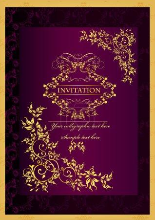 Illustration for Luxury invitation design - Royalty Free Image