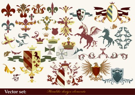 Heraldry elements for your heraldic design projects