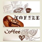 Brochure set on coffee theme for design