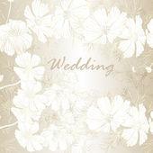 Elegantní svatební pozadí s květinami pro design