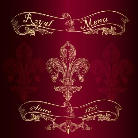 Illustration for Elegant classic wedding invitation or menu. Retro vector - Royalty Free Image