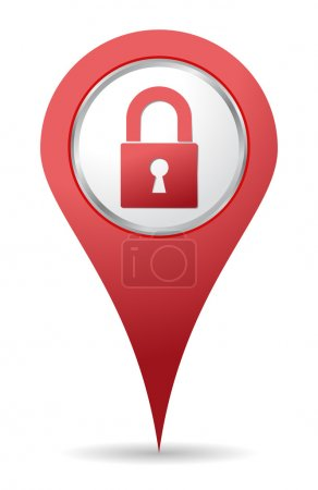 Location padlock icon