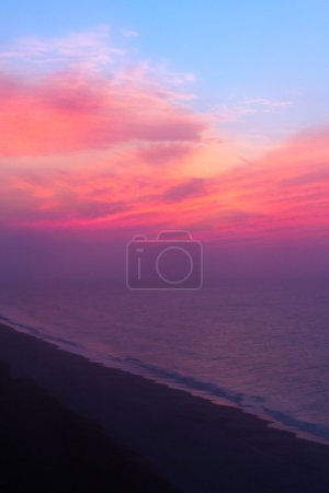 Photo for Looking down upon Myrtle Beach's Grand Strand from above just after sunrise. - Royalty Free Image