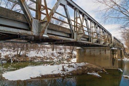 Old Triple Pony Truss Bridge