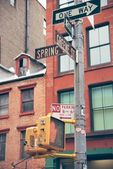 Soho street signs in NYC