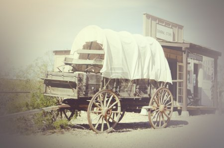 Wild west wagon and General Store