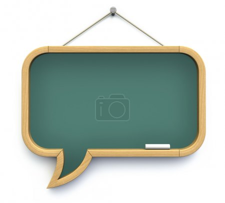 Photo for Blackboard shaped as speech bubble - 3D illustration - Royalty Free Image