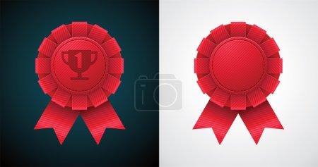 Vector award badge with ribbon