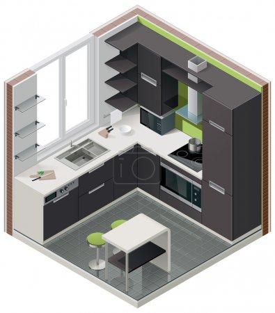 Vector isometric kitchen icon