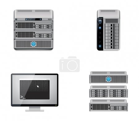 Vector server icon set