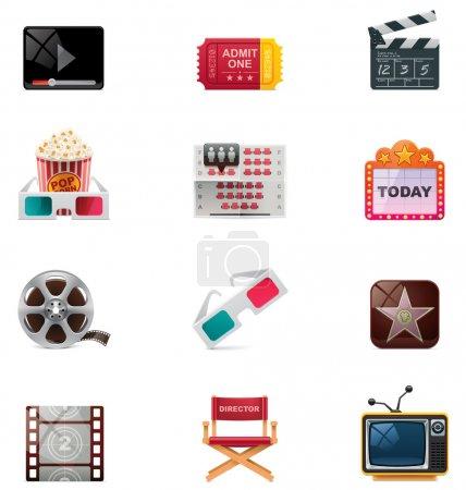 Photo pour Ensemble de film détaillé concernant les icônes - image libre de droit
