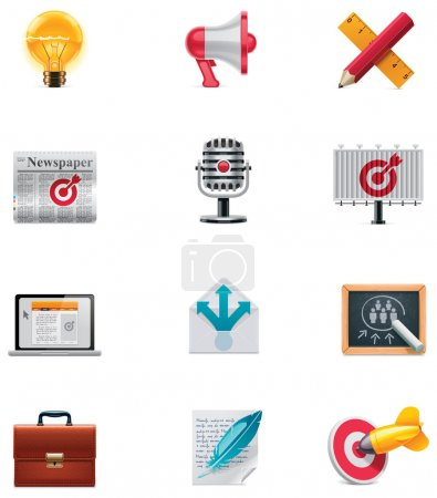 Vector marketing icon set