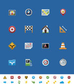 Vector common website icons. GPS navigation