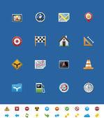 Vektor közös weboldal ikonok. GPS navigáció