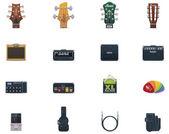 Vector guitar equipment icon set