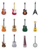 Vector guitars icon set