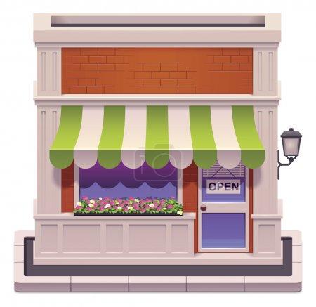 icône de petite boutique de vecteur