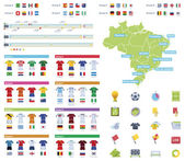 Set of the soccer championship related icons and infographic elements