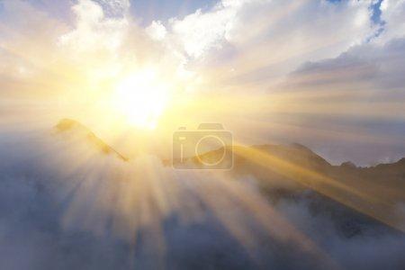 Photo for Sunny mountain scene - Royalty Free Image