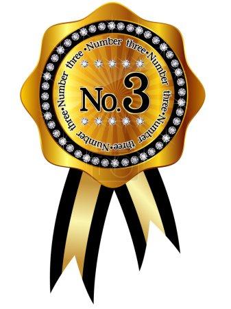 Illustration pour Cadres de ruban d'or 3 - image libre de droit