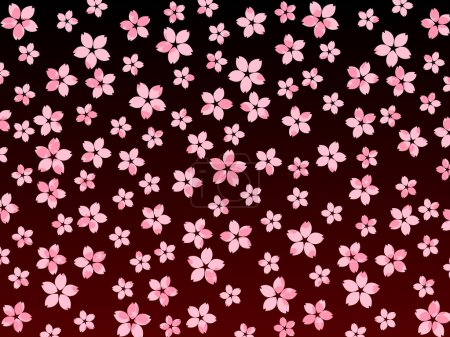 Illustration for Sakura cherry blossoms at night background - Royalty Free Image