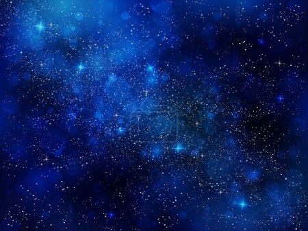 Illustration for Night sky stars background - Royalty Free Image