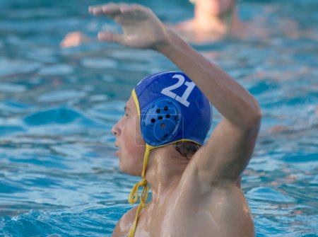 Teen Water Polo Player