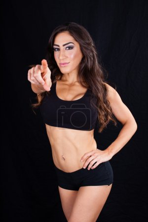 Fitness Trainer pointing