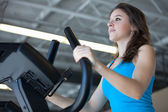 Attractive Young Woman Exercising