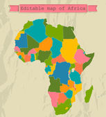 Editable map of Africa with all countries
