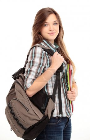 Nice female student smiling