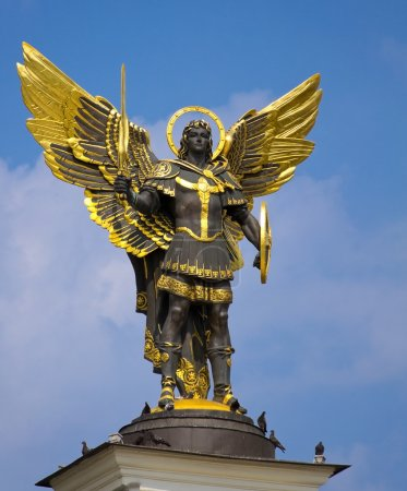 Archangel Michael Saint patron of Kiev in independence square, K