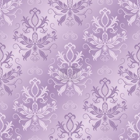 Illustration for Damask seamless pattern for design. Vector Illustration - Royalty Free Image