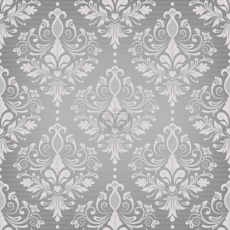 Illustration for Damask seamless pattern for design. Vector Illustration - Royalty Free Image